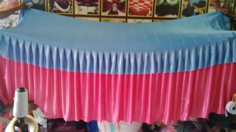 Cover Meja Rempel Pesta jual cover meja prasmanan rempel kombinasi warna pink dan