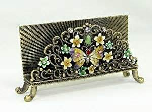 jeweled business card holder jeweled butterfly desk desktop business card
