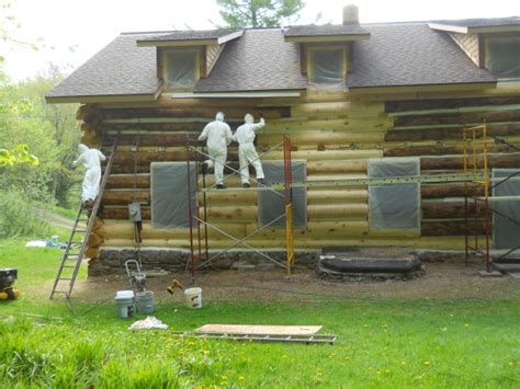 Log Cabin Restoration by Log Home Restoration Experts Mn Wi Edmunds And Company