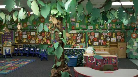 jungle theme classroom decorations our jungle theme classroom for open house where the