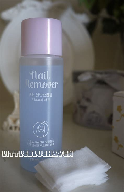 Etude Nail Remover Mild etude house nail remover 2 power great for glitter nail blue