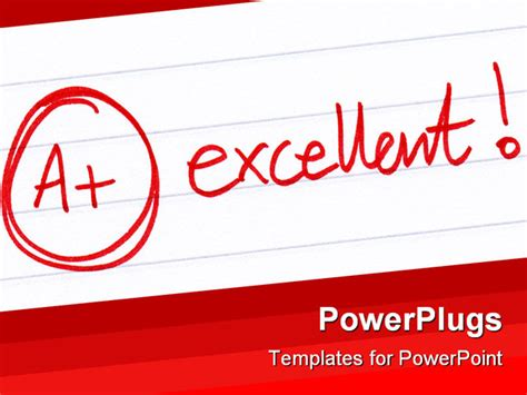 Excellent Powerpoint Templates by Powerpoint Template A Excellent Grade With Exclamation