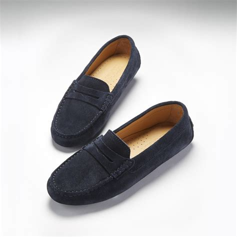 blue suede loafers womens s driving loafers blue suede from hugsandco