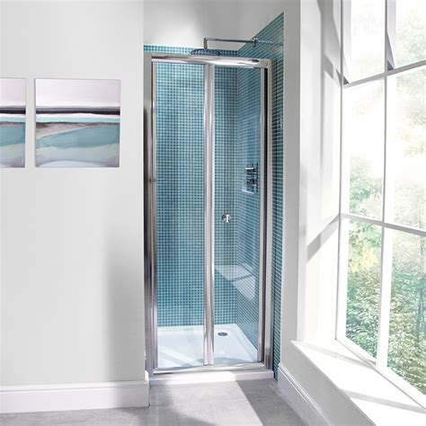 Bi Folding Shower Door Aquafloe 6mm 760 Bi Fold Shower Door