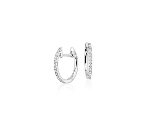 0 34 Cts White Si2 huggie earrings white gold designs
