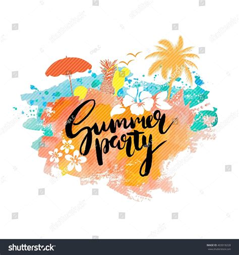 post card template event background summer poster placard card flyer stock vektor