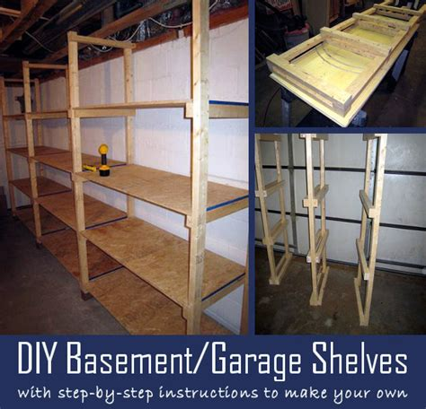 diy basement garage shelves with step by step
