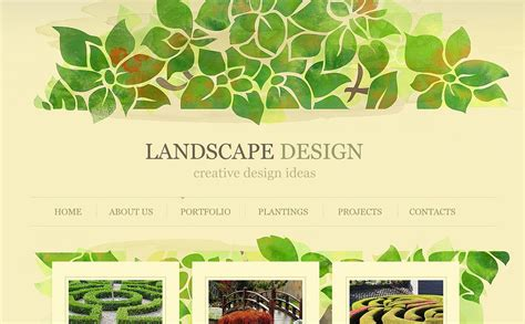 landscape design flash cms template 43500