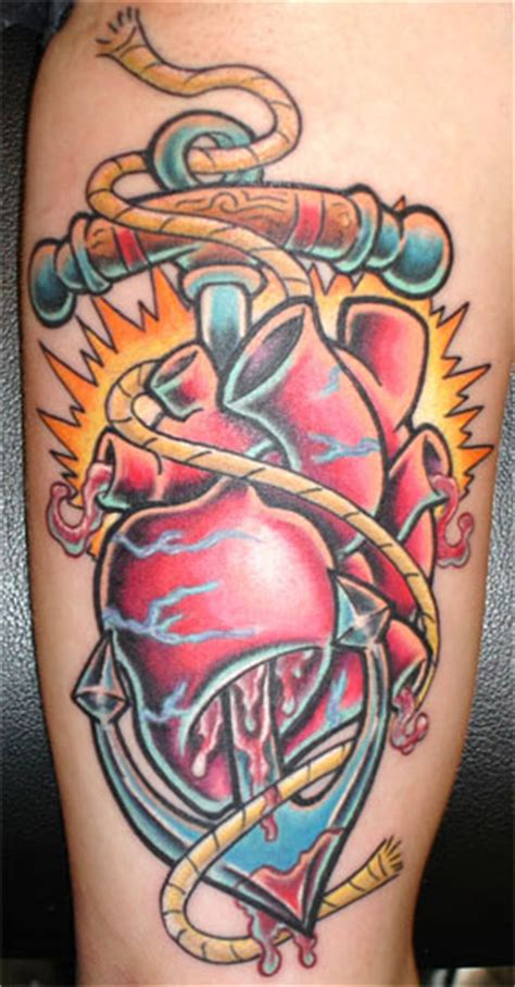 tattoo new school heart large image leave comment