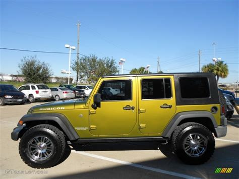 rescue green jeep rubicon rescue green metallic 2007 jeep wrangler unlimited rubicon