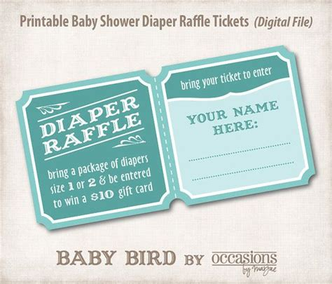 baby shower raffle raffle baby shower diapers raffle tickets