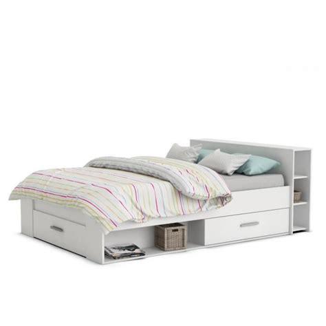 canapé lit deux places lit 2 places pocket blanc achat vente structure de lit