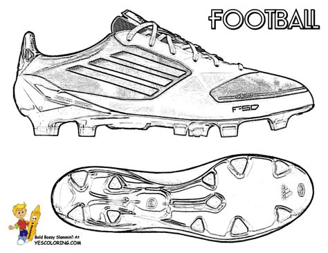 shoe coloring page template action football coloring pages to print free kids