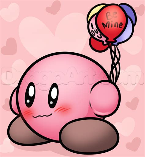 drawing valentines how to draw kirby step by step valentines