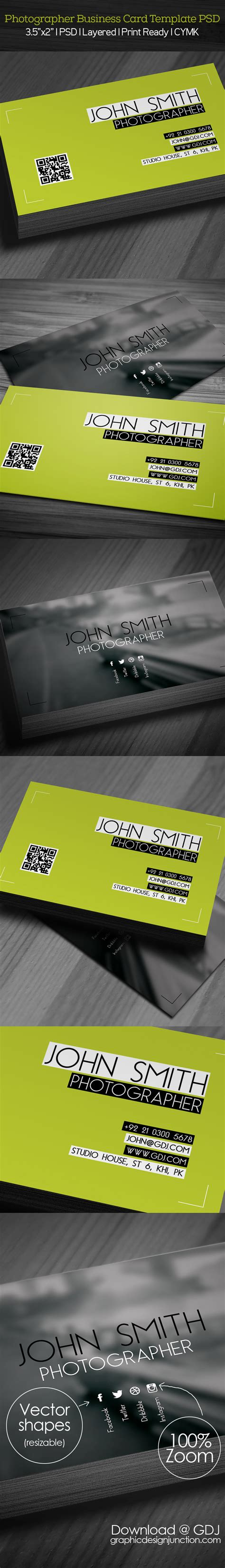 Photography Business Card Template Psd File by Free Photographer Business Card Psd Template Freebies