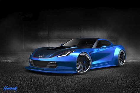 widebody corvette c7 gurnade rendered widebody c7 for the 2014 sema