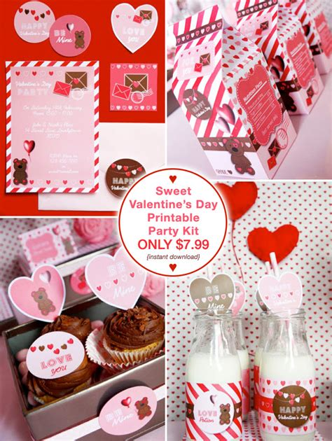 valentines day kit cookies and milk s day printables giggle