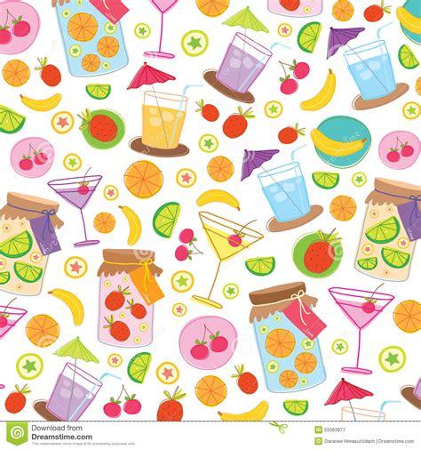 juice pattern vector fruit juice drink cute cartoon gift wrapping design vector