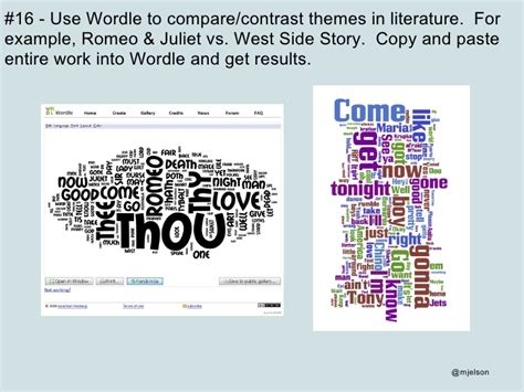 common themes in romeo and juliet and to kill a mockingbird 52 interesting ways to use wordle in the classroom