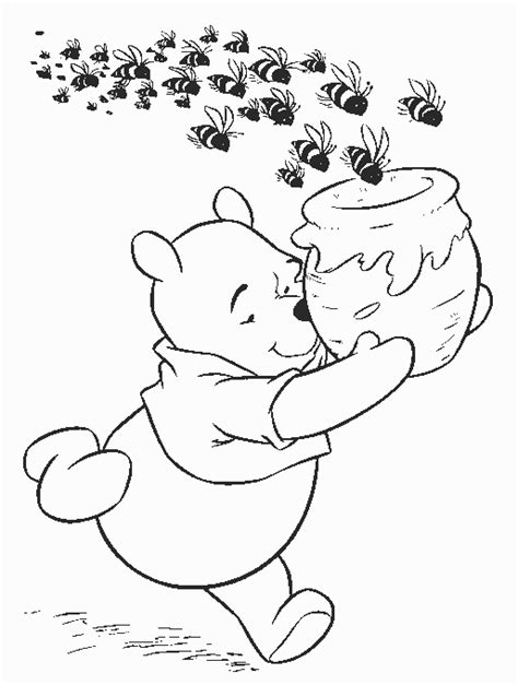 pooh coloring pages kids world