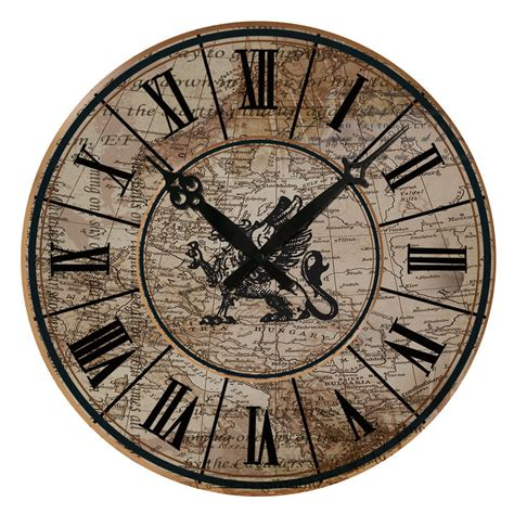 design wall clock 15 quot large vintage design wall clock shabby chic rustic
