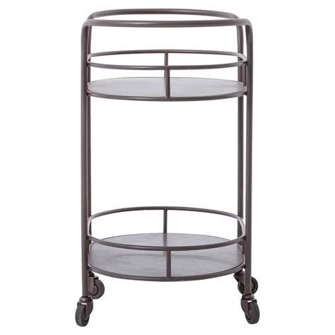 Small Home Bar Cart Cole Industrial Style Metal Small Oval Bar Cart Kathy