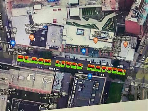 blm mural  coming  main street yonkers