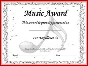 music award certificates editable