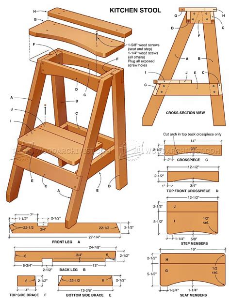 2 Step Kitchen Stool by Kitchen Step Stool Plans Woodarchivist