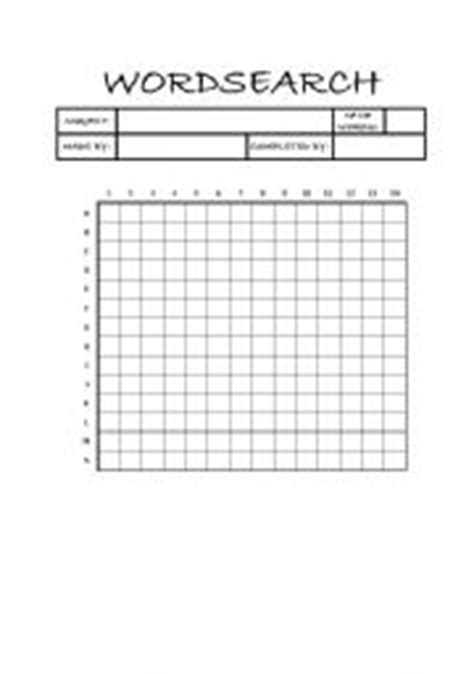 make your own word search template 6 best images of blank vocabulary word searches printable