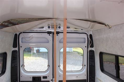 rv ceiling panel our promaster cer conversion paneling walls and
