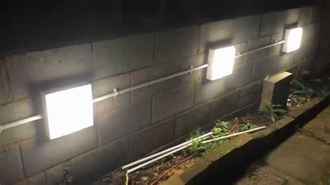 installing garden wall lights