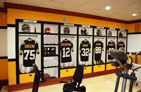 locker room bedroom ideas pittsburgh steelers 1970 s locker room mural inside the