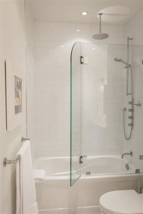 bathtub shower enclosure greg rob s sky suite house tour