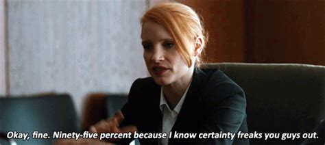 Movie Quotes Zero Dark Thirty | okay fine ninety five percent because i know certainty