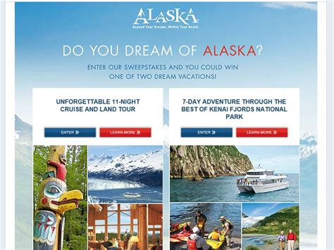 Alaska Sweepstakes - do you dream of alaska sweepstakes