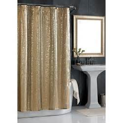 sheer bliss shower curtain in gold www bedbathandbeyond com