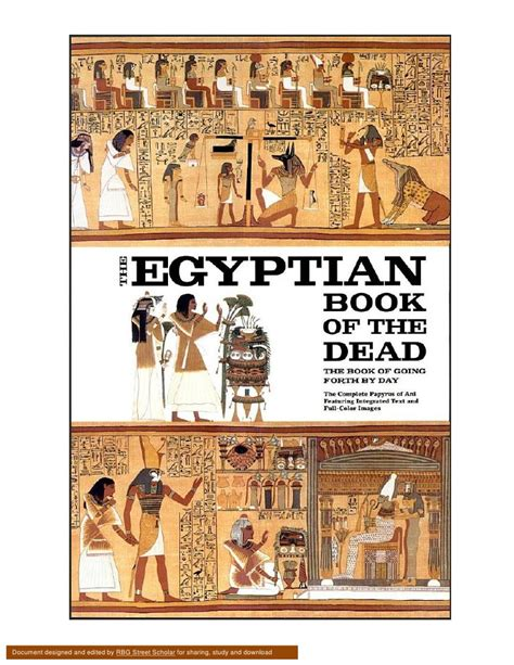 pictures of the book of the dead book of the dead the papyrus of ani