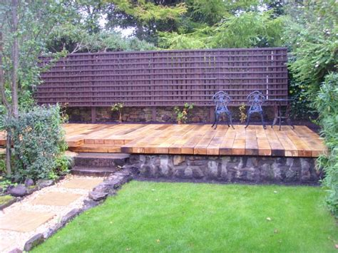 New Oak Railway Sleepers by Scottish Deck With New Oak Railway Sleepers