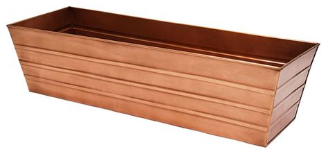 large window box large copper plated window box contemporary outdoor