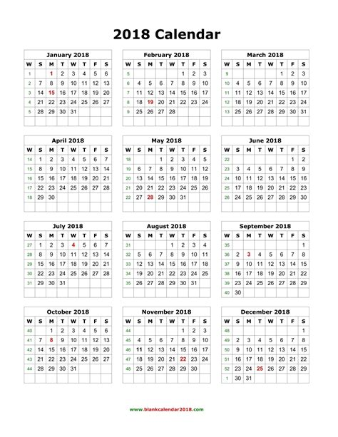 2018 monthly calendar with us holidays free printable templates
