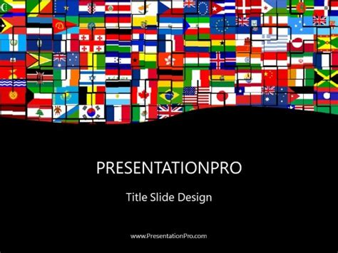 World Flags Powerpoint Template Background In Flags International Powerpoint Ppt Slide Design Flags Of The World Powerpoint
