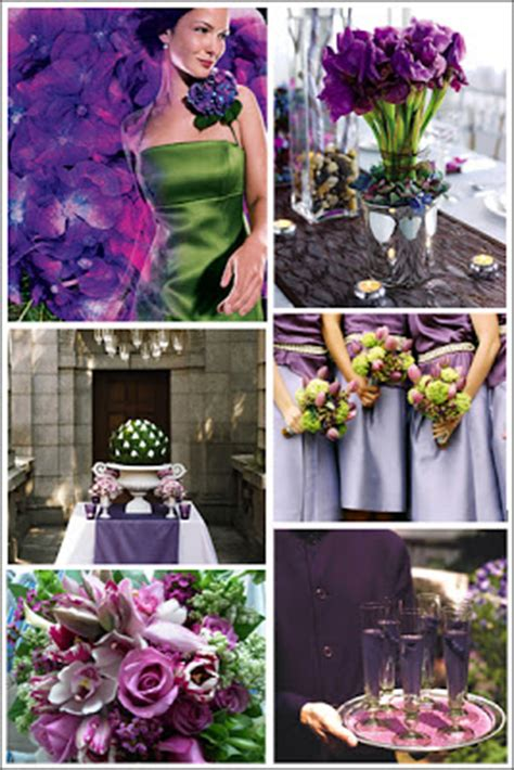 purple and green with envy inspiration for a purple
