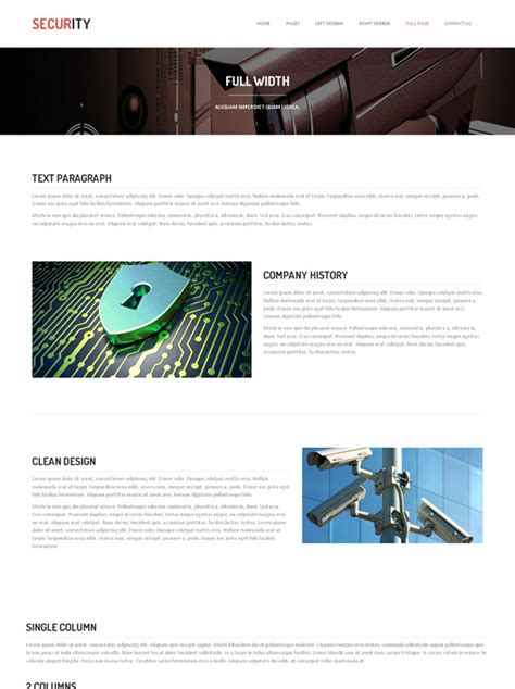 Computer Security Project Template Computer Security Website Template Security
