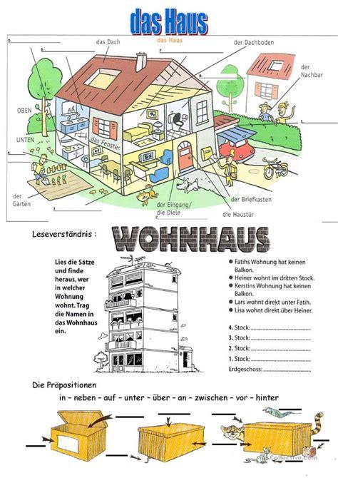 Haus Auf Englisch by Haus Und Stockwerke Arbeitsblatt Kostenlose Daf
