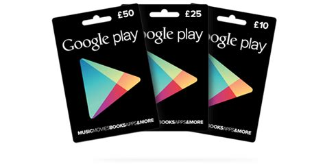 Google Play Gift Card Denominations - google play gift cards close to uk launch