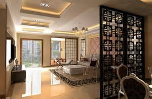 Ideas For Dividing A Room - simple floor to ceiling room dividers design for modern living room decolover net