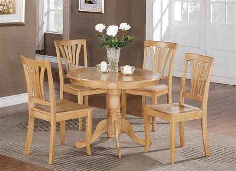 5 pc round bristol table dinette kitchen table 4 chairs