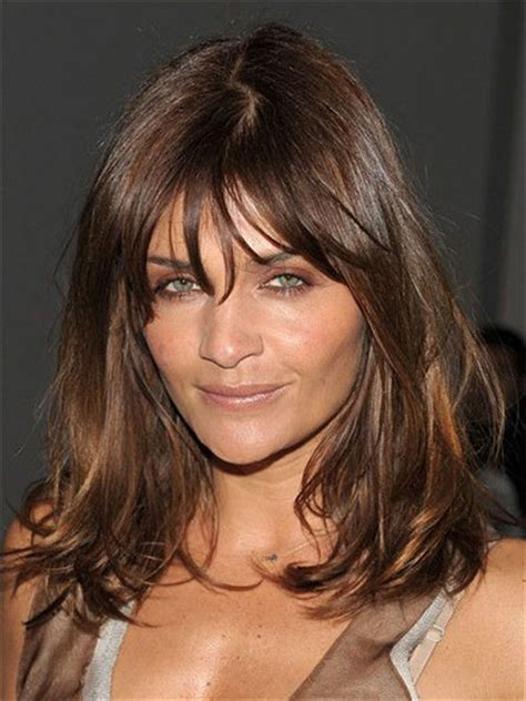 medium length hairstyles with bangs and fat faces 25 modern medium length haircuts with bangs layers for