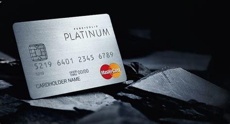 besondere kreditkarten eine kreditkarte aus reinem platin gold oder silber